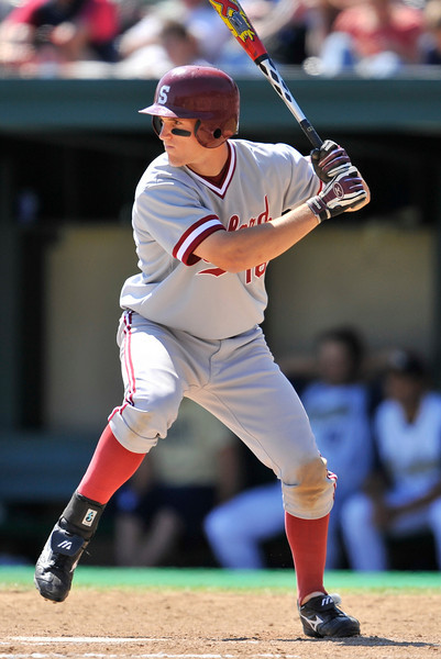 01 June 2008:  Stanford Cardinal Cord Phelps (16) during Stanford's 8-4 win over UC Davis at Klein Field at Sunken Diamond in Stanford, CA.