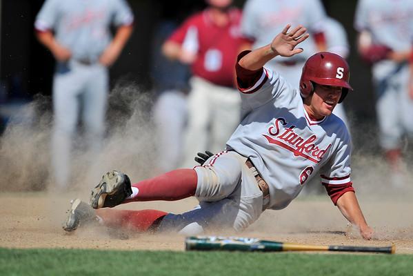 02 June 2008:  Stanford Cardinal Jake Schlander (6) scores during Stanford's 9-7 win over Pepperdine at Klein Field at Sunken Diamond in Stanford, CA.