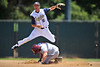 01 June 2008:  Stanford Cardinal Cord Phelps (16) slides into second as Grant Bauer (19) turns a double-play during Stanford's 8-4 win over UC Davis at Klein Field at Sunken Diamond in Stanford, CA.