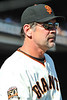 12 April 2008:  Manager Bruce Bochy (15) during the St. Louis Cardinals' 8-7, 10-inning, victory over the San Francisco Giants at AT&T Park in San Francisco, CA.