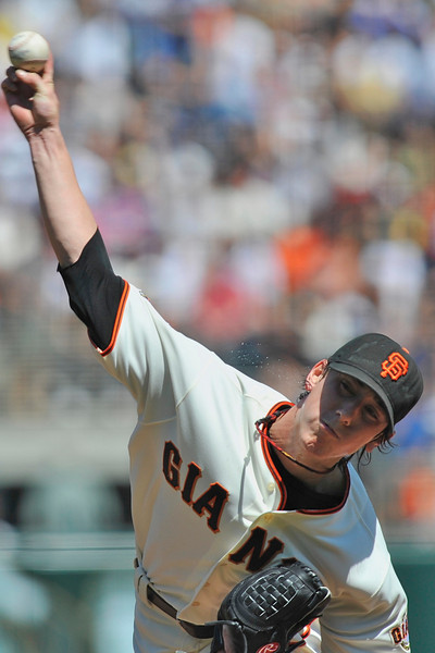 13 April 2008:  Tim Lincecum during the San Francisco Giants' 7-4 victory over the St. Louis Cardinals at AT&T Park in San Francisco, CA.