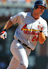 12 April 2008:  Rick Ankiel (24) rounds the bases after homering during the St. Louis Cardinals' 8-7, 10-inning, victory over the San Francisco Giants at AT&T Park in San Francisco, CA.