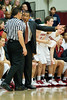 29 November 2008:  Stanford head coach Johnny Dawkins argues a call during the first half of the Cardinal's 76-62 win over the Colorado Buffaloes at Maples Pavilion in Stanford, California.