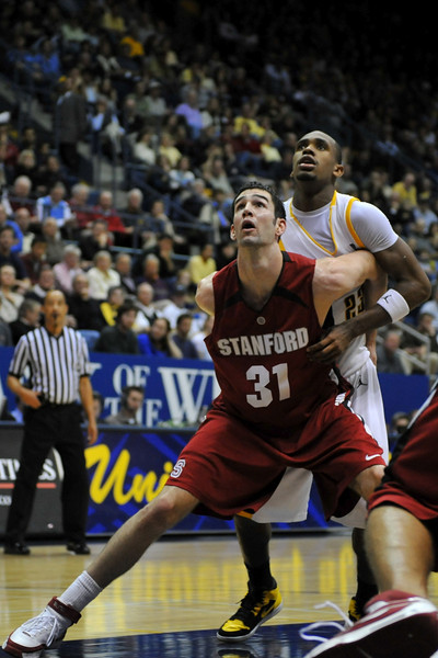 26 January 2008: Taj Finger during Stanford's 82-77 win over California at the Haas Pavilion in Berkeley, CA.