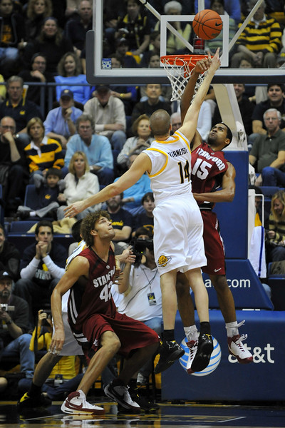 26 January 2008: Lawrence Hill during Stanford's 82-77 win over California at the Haas Pavilion in Berkeley, CA.