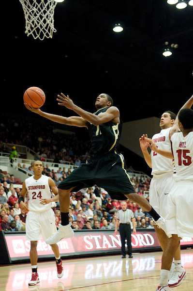 29 November 2008:  Colorado guard Cory Higgins (11) drives to the basket during the second half of the Stanford Cardinal's 76-62 win over the Buffaloes at Maples Pavilion in Stanford, California.