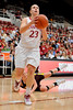 14 November 2008: Stanford guard Jeanette Pohlen (23) drives to the basket after losing a defender during the Stanford Cardinal's 68-55 victory over the Minnesota Golden Gophers at Maples Pavilion in Stanford, CA.