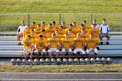 Cheverus High School Football Team 2009 photographed on the schools Football field on 8.27.09.  Photograph taken by Portland, Maine based photographer Jeff Scher.