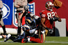 Nov. 16, 2008; San Francisco, CA, USA; San Francisco 49ers wide receiver Bryant Johnson (82) lunges for more yardage as St. Louis Rams safety Corey Chavous (25) drags him down during the second quarter of the 49ers game against the Rams at Candlestick Park. Mandatory Credit: Daniel R. Harris-US PRESSWIRE