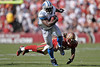 Sep. 21, 2008; San Francisco, CA, USA; Detroit Lions running back Rudi Johnson (32) breaks free of San Francisco 49ers defensive back Dashon Goldson (38) and heads for the end zone for the only Lions touchdown during the fourth quarter of the 49ers 31-13 win over the Lions at Monster Park in San Francisco, CA. Mandatory Credit: Daniel R. Harris-US PRESSWIRE