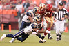 Nov. 16, 2008; San Francisco, CA, USA; San Francisco 49ers running back DeShaun Foster (29) runs for a first down as St. Louis Rams linebacker David Vobora (58) tries to make the tackle during the fourth quarter of the 49ers 35-16 victory over the Rams at Candlestick Park. Mandatory Credit: Daniel R. Harris-US PRESSWIRE