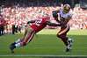 Dec. 28, 2008; San Francisco, CA, USA; Washington Redskins wide receiver Antwaan Randle El (82) makes a catch and dives toward the end zone for a touchdown as San Francisco 49ers linebacker Patrick Willis (52) tries to make the stop in the second quarter of the San Francisco 49ers game against the Redskins at Candlestick Park. Mandatory Credit: Daniel R. Harris-US PRESSWIRE