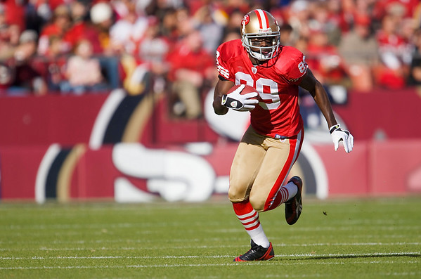 Dec. 28, 2008; San Francisco, CA, USA; San Francisco 49ers wide receiver Jason Hill (89) finds some running room in the first quarter of the 49ers game against the Washington Redskins at Candlestick Park. Mandatory Credit: Daniel R. Harris-US PRESSWIRE