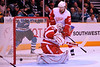 30 October 2008: Detroit Red Wings defenseman Brad Stuart (23) watches a San Jose shot score past goalie Ty Conklin (29) during the second period of the Sharks 4-2 win over the Red Wings at HP Pavilion in San Jose, California.  **** Editorial Usage Only *****