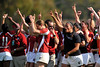 03 May 2008: Team celebration after Stanford's 15-10 victory over Penn State to win the Division I Women's Rugby National Championship match at Stueber Rugby Stadium in Stanford, CA.