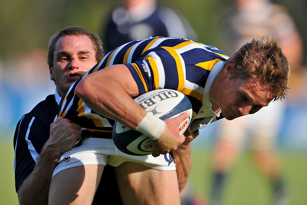 02 May 2008:  Colin Hawley heads toward a try during California's 59-7 victory over BYU in the Collegiate Division I Men's Rugby National Final match at Stanford University's Stueber Rugby Stadium in Stanford, CA.  The California win represents its fifth straight national rugby championship.