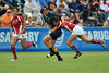 02 May 2008:  Jacelyn Tseng makes a tackle during Stanford's 40-20 victory over Navy in the NCAA Division I Women's Rugby National Semi-Final match at Stueber Rugby Stadium in Stanford, CA.