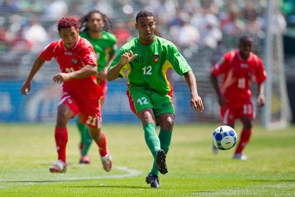 05 July 2009:  Guadeloupe midfielder David Fleurival (12) during the Group C match of the Confederation of North, Central America and Caribbean Association Football Gold Cup at the Oakland-Alameda County Coliseum in Oakland, California.  Guadeloupe defeated Panama 2-1.