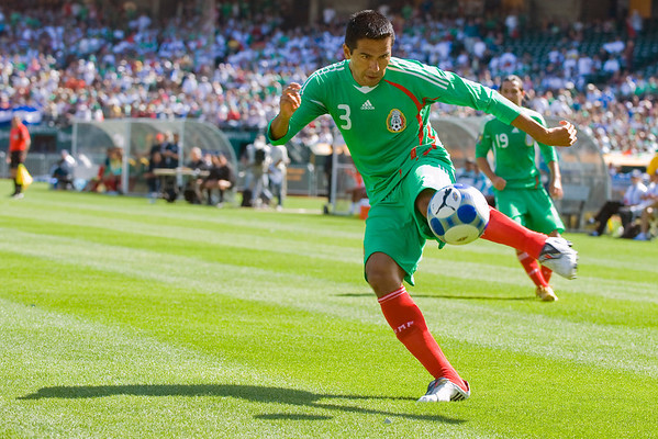 05 July 2009:  Mexico defender Ismael Rodriguez (3) during play in the Group C match of the Confederation of North, Central America and Caribbean Association Football Gold Cup at the Oakland-Alameda County Coliseum in Oakland, California.  Mexico defeated Nicaragua 2-0.