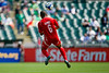 05 July 2009:  Panama midfielder Gabriel Gomez (6) leaps for a header during the Group C match of the Confederation of North, Central America and Caribbean Association Football Gold Cup at the Oakland-Alameda County Coliseum in Oakland, California.  Guadeloupe defeated Panama 2-1.