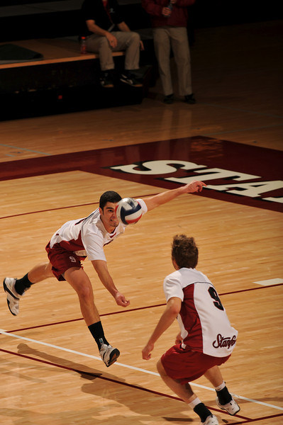 18 January 2008: Evan Romero during Stanford's 3-1 win over USC at Maples Pavilion in Stanford, CA.