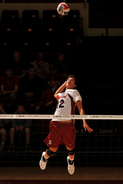 18 January 2008: Kawika Shoji during Stanford's 3-1 win over USC at Maples Pavilion in Stanford, CA.