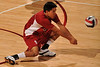 18 January 2008: Jordan Inafuku during Stanford's 3-1 win over USC at Maples Pavilion in Stanford, CA.