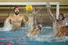 06 December 2008: Stanford Cardinal goalkeeper Jimmie Sandman (1) blocks a shot during the Cardinal's 6-5 win over the Loyola Marymount Lions in the NCAA men's water polo championship semi-final game at the Avery Aquatic Center in Stanford, CA.
