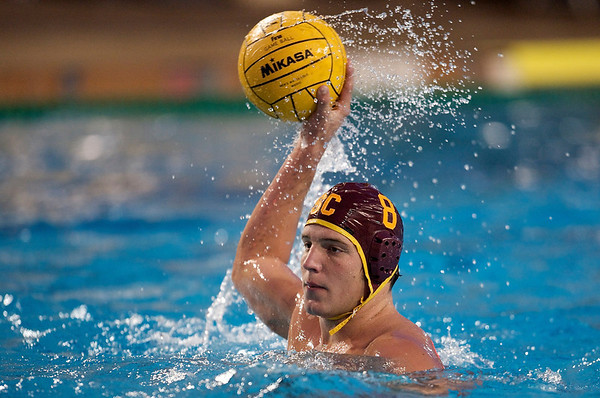 06 December 2008: USC Trojans two-meter Shea Buckner (8) during the Trojans 14-9 win over the Navy Midshipmen in the NCAA men's water polo championship semi-final game at the Avery Aquatic Center in Stanford, CA.