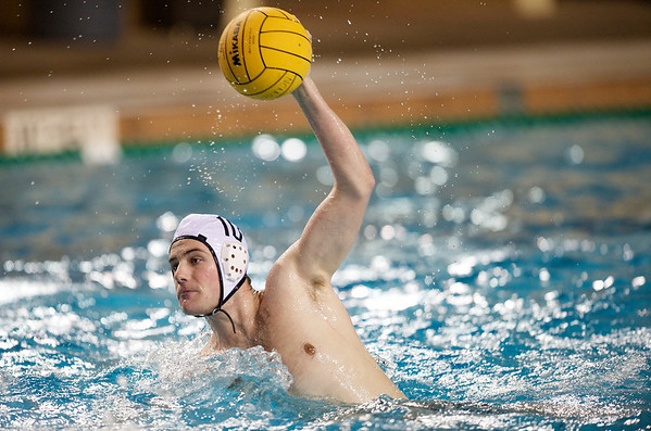 06 December 2008: Navy Midshipmen utility Ian Hunter (10) shoots during the USC Trojans 14-9 win over the Midshipmen in the NCAA men's water polo championship semi-final game at the Avery Aquatic Center in Stanford, CA.