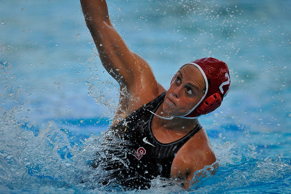 10 May 2008:  Stanford Cardinal Lauren Silver (20) during the semi-final match of the 2008 NCAA women's water polo championships at the Avery Aquatic Center in Stanford, CA.  USC defeated Stanford 10-6, to move on to the championship match against UCLA.