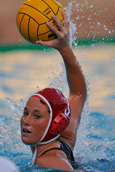 10 May 2008:  Stanford Cardinal Kelly Eaton (5) during the semi-final match of the 2008 NCAA women's water polo championships at the Avery Aquatic Center in Stanford, CA.  USC defeated Stanford 10-6, to move on to the championship match against UCLA.