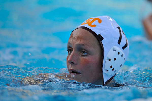 10 May 2008:  USC Trojan Kristen Dronberger (17) during the semi-final match of the 2008 NCAA women's water polo championships at the Avery Aquatic Center in Stanford, CA.  USC defeated Stanford 10-6, to move on to the championship match against UCLA.