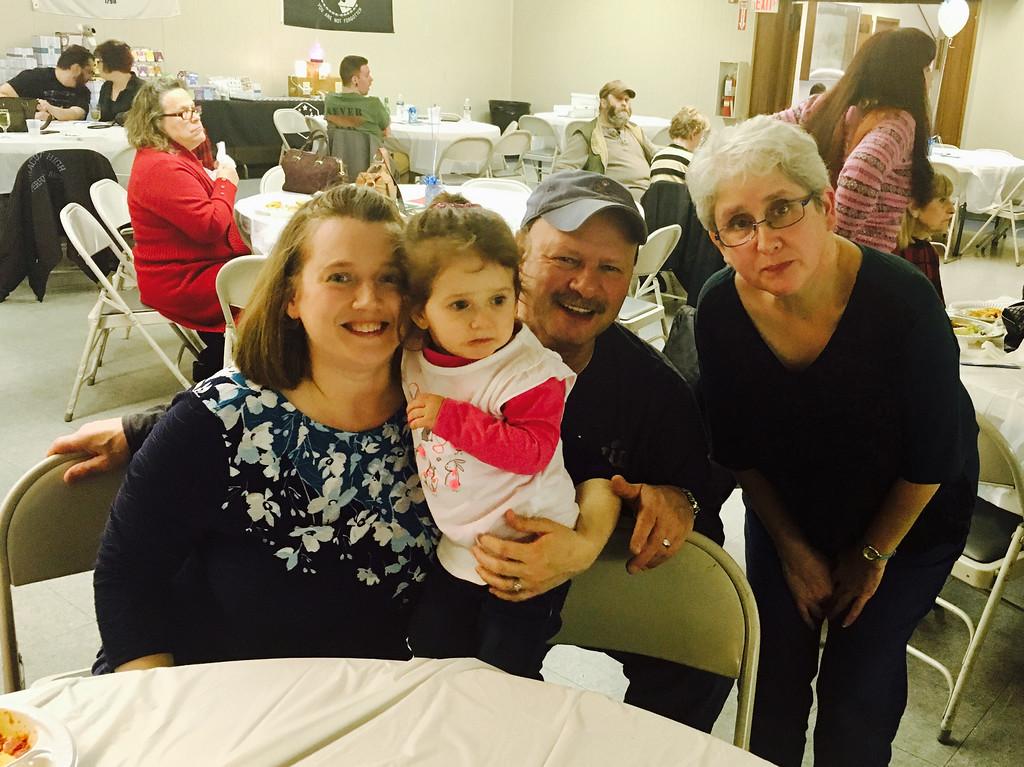 . Left. Susan, Gracey and Paul Lambert of Methuen, and Karen Fall of Hudson, N.H.