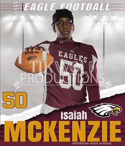 36X42 Isaiah Football Banner 21