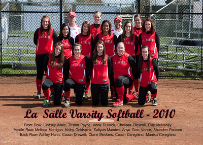 Lasalle Softball Varsity with names