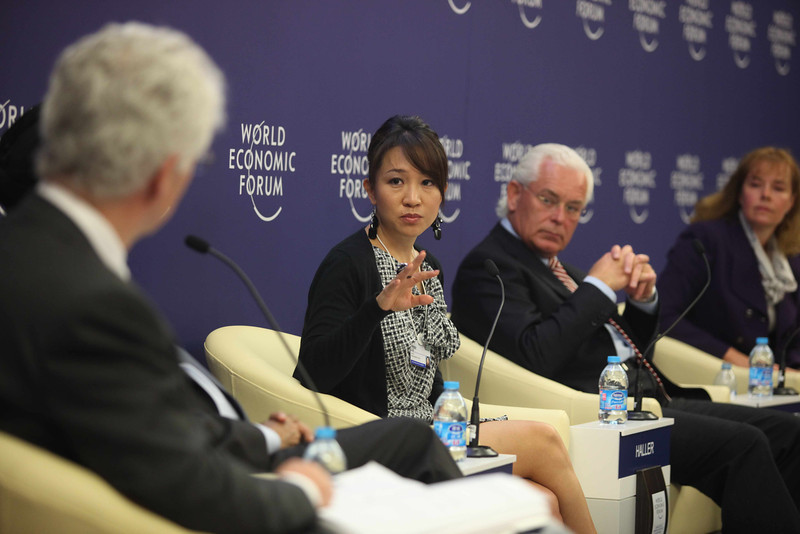 JUCCCE Chairperson Peggy Liu at the WEF<br /> 聚思主席刘佩琪在世界经济论坛