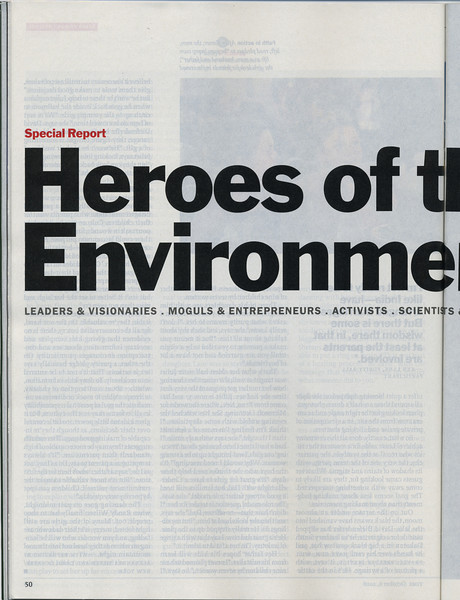 2008 Time's Hero of the Environment<br /> 《时代》的环保英雄(2008年)