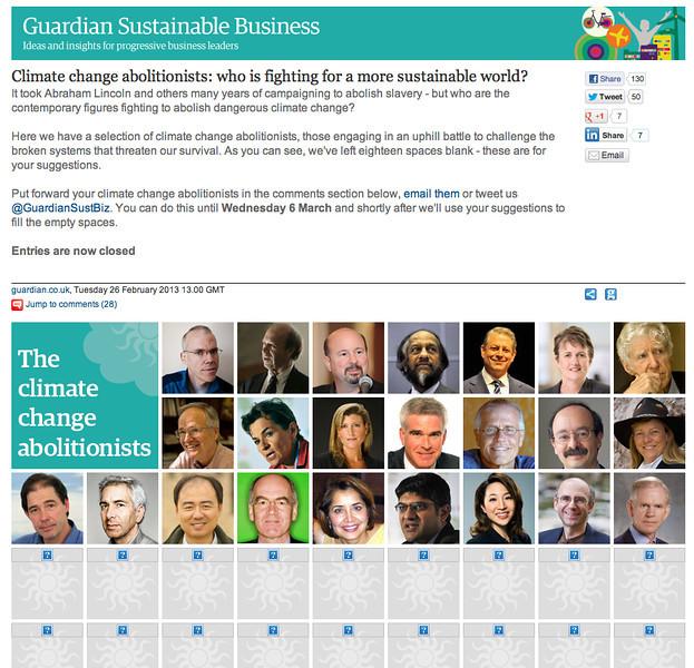 "Feb 27, 2013 UK's The Guardian ""Climate Change Abolitionists""<br /> 2013年2月27日 英国《卫报》""气候变化废除主义者"""
