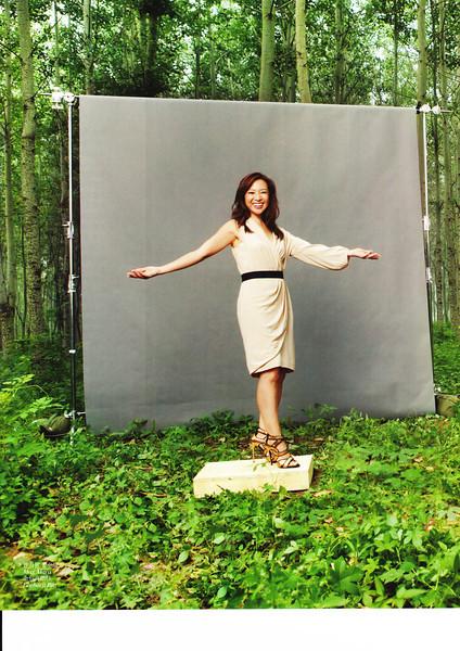"Sept 2012 China's Vogue. Cover story ""3 Women Who Can Better the World""<br /> 2012年9月《时尚》杂志封面故事:""让世界更美好的三位女性"""