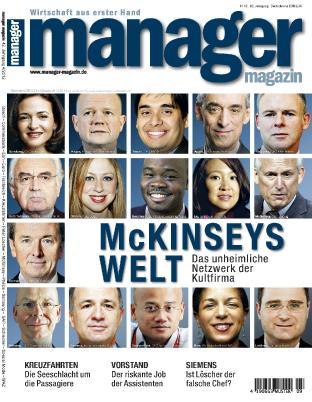 """April 23, 2012. Germany's Manager Magazin. """"McKinsey's Welt""""<br /> 2012年4月23日,《德国经理人》 """"麦肯锡世界"""""""