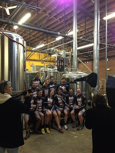 2012-2013 Birdsong Brewery Cyclocross Team Portrait.  Photo by April Vahey.