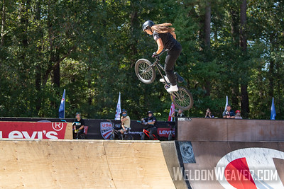 Perris Benegas, silver medal. 2019 USA Cycling Freestyle BMX  Nationals. Cary, NC. Photo by Weldon Weaver.
