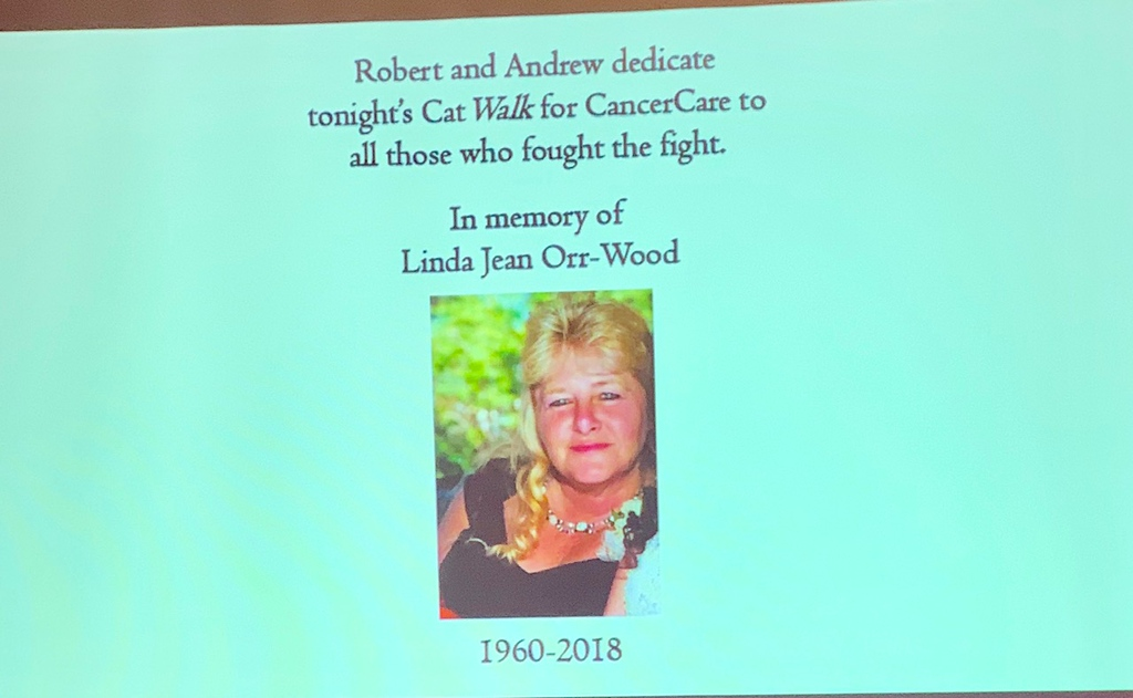 . The late Linda Jean Orr-Wood, to whom the evening was dedicated