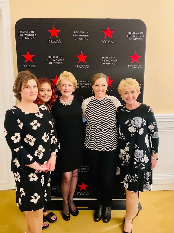 . Inspirational cancer survivors, from left, Charlene Portante of Westford, Stephanie Weeden of Lowell, Peggy Hassett of Tyngsboro, Dyanne Norta of Dracut and Brenda Deschenes of Chelmsford