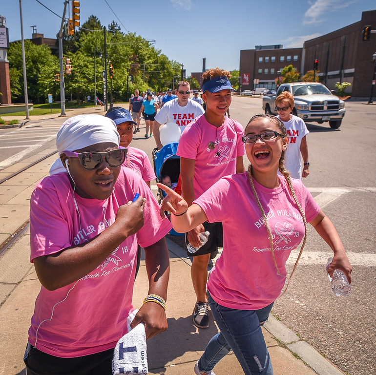 . Team Butler Bulldogs walk for Cancer.   The walk was part of the 19th Annual Lowell General Hospital Teamwalk for CancerCare hosted on the grounds near the Tsongas Center in Lowell Sunday.   SUN/Scot Langdon