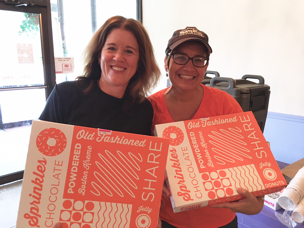 . LGH divas � Jennifer Hanson and Andrea Jackson, both of Lowell � deliver doughnuts