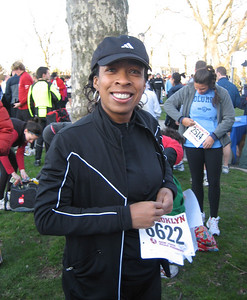 Jasmine rocking a big pre-race smile