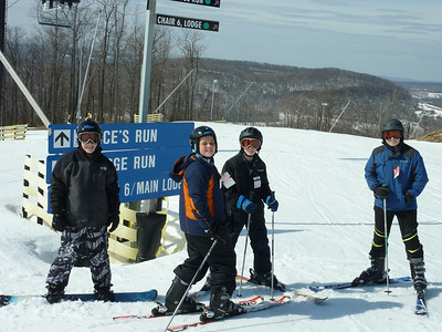 Skiing at Wisp the weekend before our first practice.