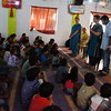 SOAR team conducting a childrens class with Kerela Christian Mission in 2013.